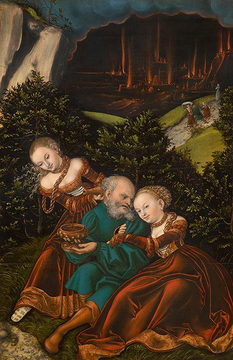 ルカス・クラーナハ(父)『ロトと娘たち』1528年 ウィーン美術史美術 ©KHM―Museumsverband.