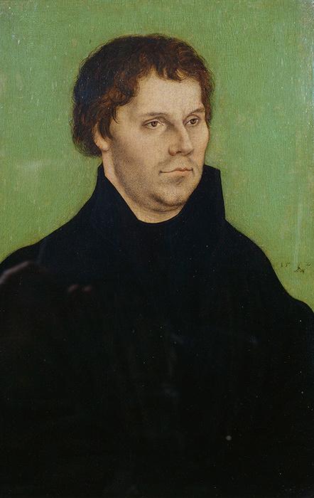 ルカス・クラーナハ(父)『マルティン・ルターの肖像』1525年 ブリストル市美術館 ©Bristol Museums, Galleries & Archives