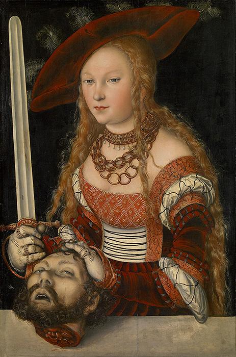 ルカス・クラーナハ(父)『ホロフェルネスの首を持つユディト』1530年頃 ウィーン美術史美術館 ©KHM―Museumsverband.