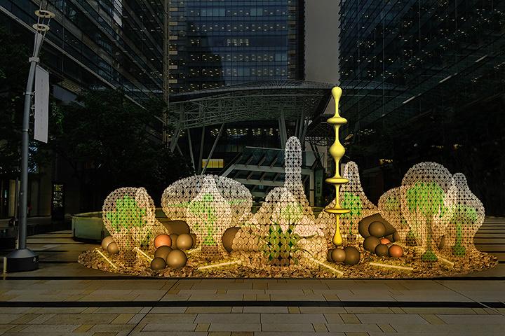 名和晃平による『六本木アートナイト2016』メインプログラム 東京ミッドタウンでの展開イメージ