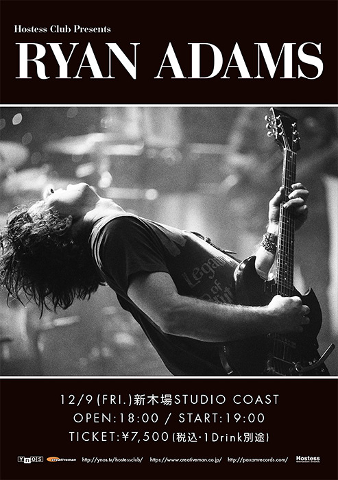 『Hostess Club Presents Ryan Adams』ポスタービジュアル