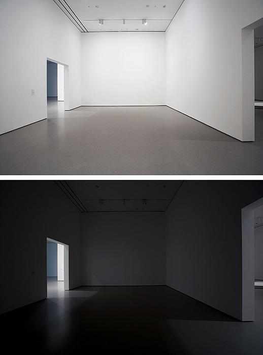 マーティン・クリード『Work No. 227(ライトが点いたり消えたり)』 2000年 サイズ可変、5 秒点灯・5 秒消灯 2007年MoMAでの展示風景 Courtesy the artist and Hauser & Wirth ©Martin Creed