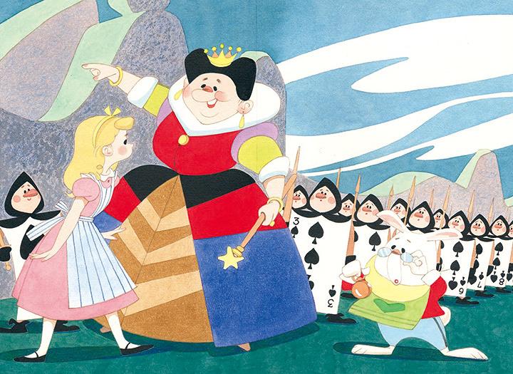 松本かつぢ『ふしぎの国のアリス』 『講談社の絵本ゴールド版』1960年2月号掲載 ©松本かつぢ・アートプロモーション