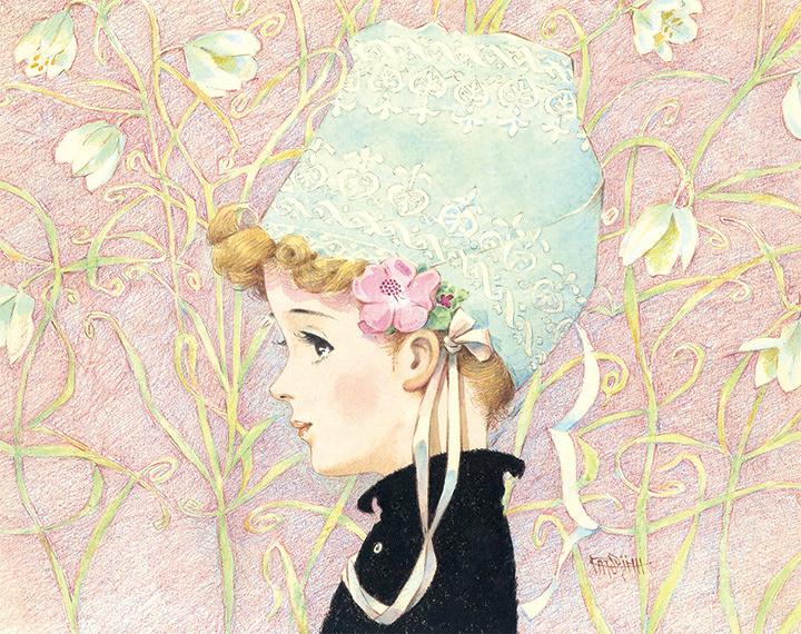 松本かつぢ『少女の横顔』 1970年代 ©松本かつぢ・アートプロモーション