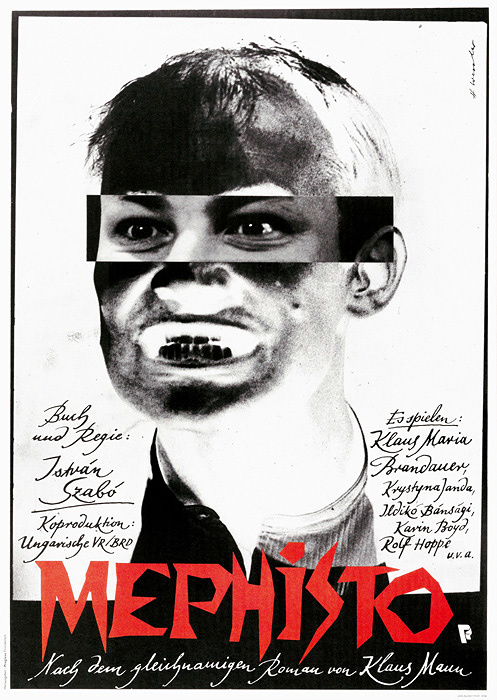 『メフィスト』 ポスター:ホルスト・ヴェスラー 1981年 フィルムセンター所蔵