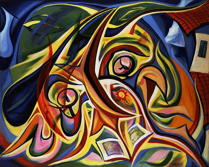 岡本太郎『まひるの顔』1948年 川崎市岡本太郎美術館 公益財団法人岡本太郎記念現代芸術振興財団