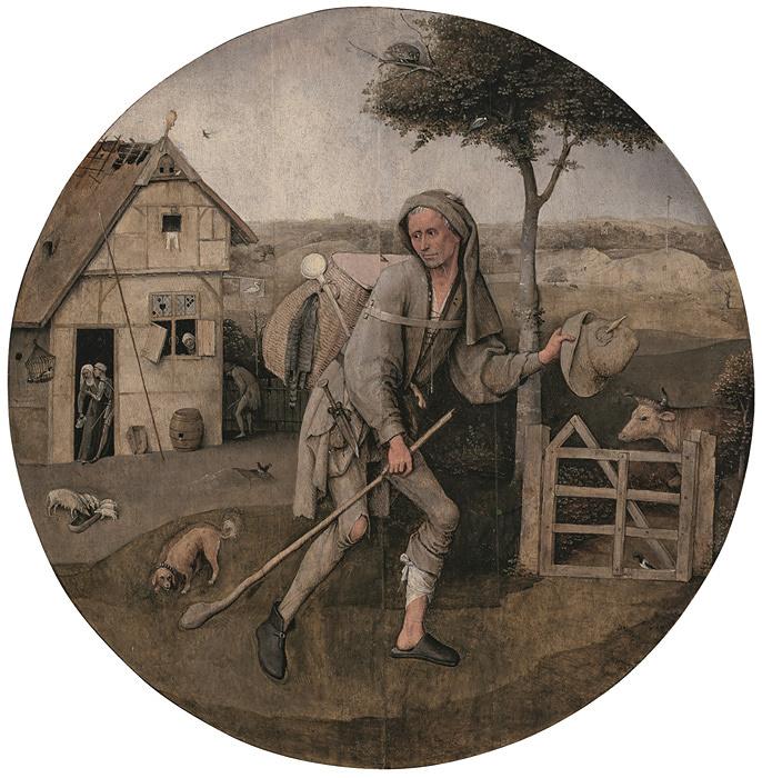 ヒエロニムス・ボス『放浪者』1500年頃 油彩、板 Museum BVB, Rotterdam, Netherlands