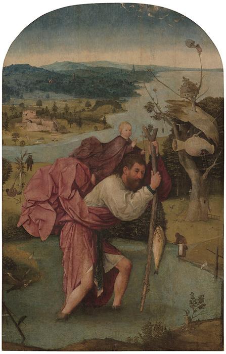 ヒエロニムス・ボス『聖クリストフォロス』1500年頃 油彩、板 Museum BVB, Rotterdam, Netherlands (Koenigs Collection)