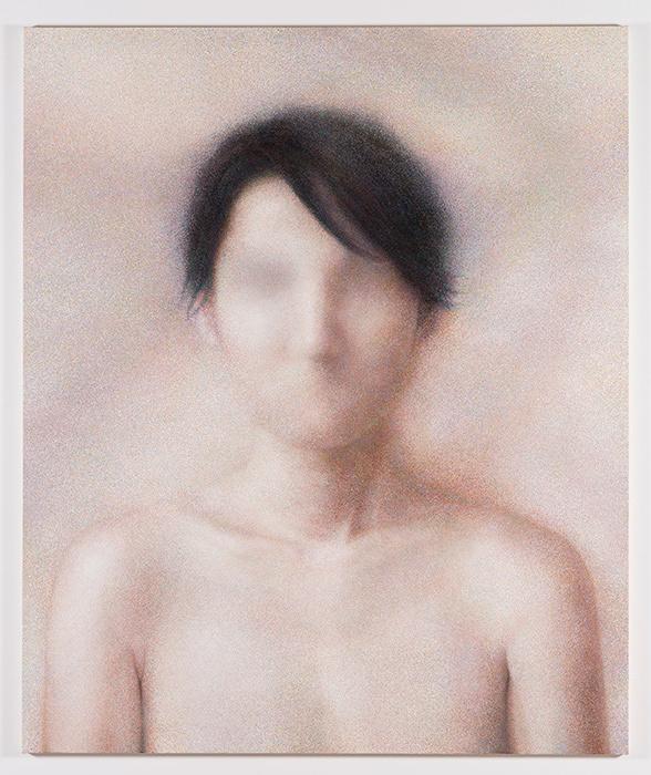 名知聡子『Good-bye and thank you for everything.』2016年 oil on canvas 194×162cm ©Satoko Nachi, photo by Shinichi Oosuga