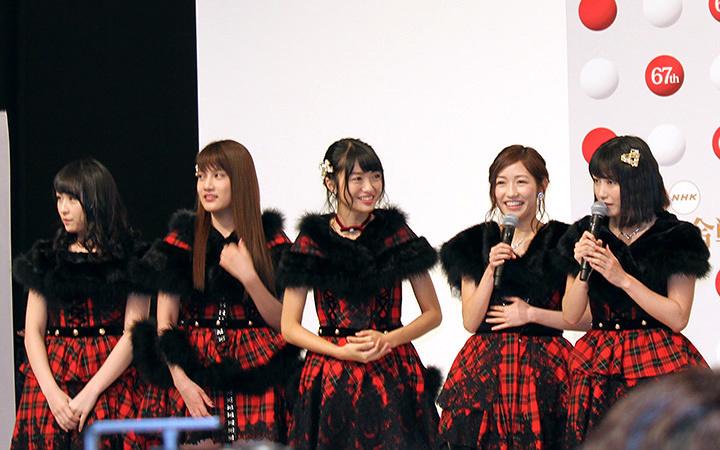 AKB48 『第67回NHK紅白歌合戦』出場歌手発表会見より