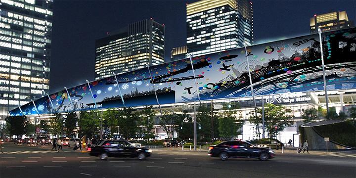 『東京駅グランルーフ Light on Train』イメージビジュアル