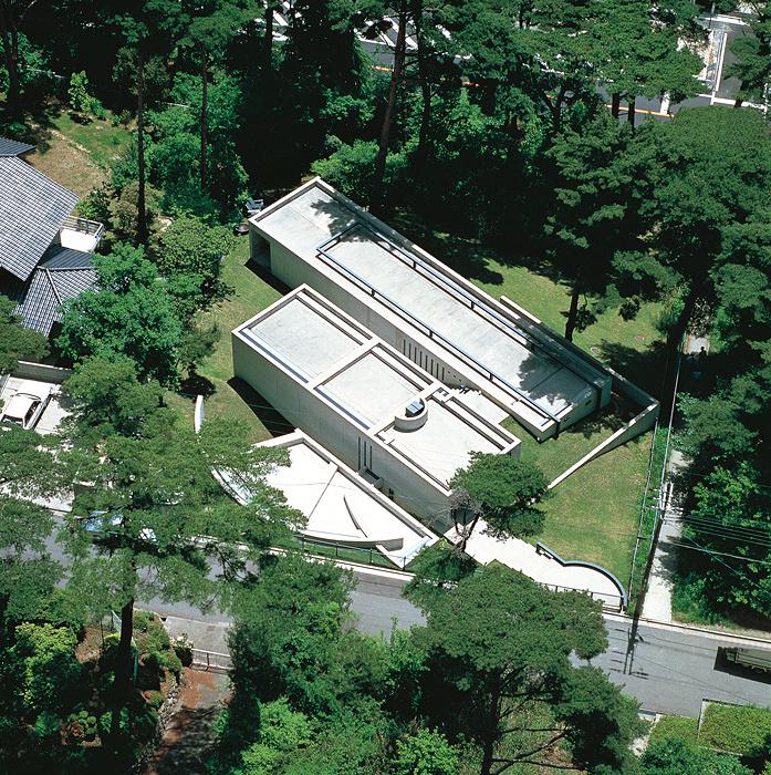 安藤忠雄『小篠邸』1981年 兵庫県 撮影:新建築社