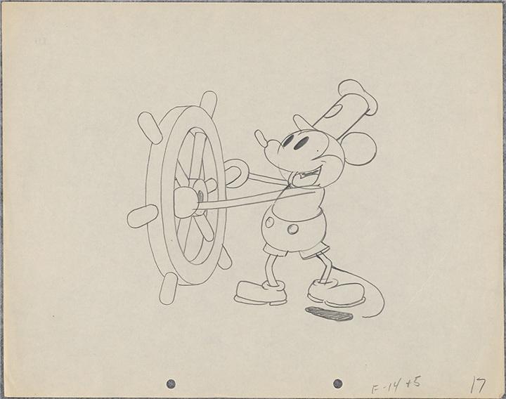 『蒸気船ウィリー』より 1928年 ©Disney Enterprises, Inc.