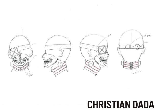 CHRISTIAN DADAによるマスクのデザイン画
