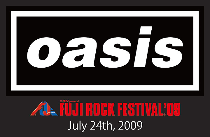『oasis FUJI ROCK FESTIVAL'09』ロゴ