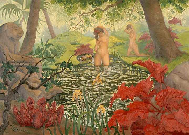 ポール・ランソン『水浴』 1906年頃 油彩、カンヴァス ©RMN-Grand Palais (musée d'Orsay) / Hervé Lewandowski / distributed by AMF