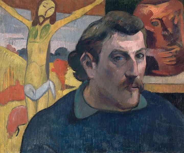 ポール・ゴーギャン『「黄色いキリスト」のある自画像』 1890-1891年 油彩、カンヴァス ©RMN-Grand Palais (musée d'Orsay) / René-Gabriel Ojéda / distributed by AMF