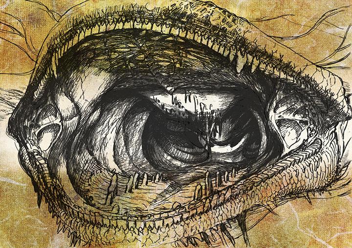 『龍の歯医者』設定資料より ©舞城王太郎, nihon animator mihonichi LLP./ NHK, NEP, Dwango, khara