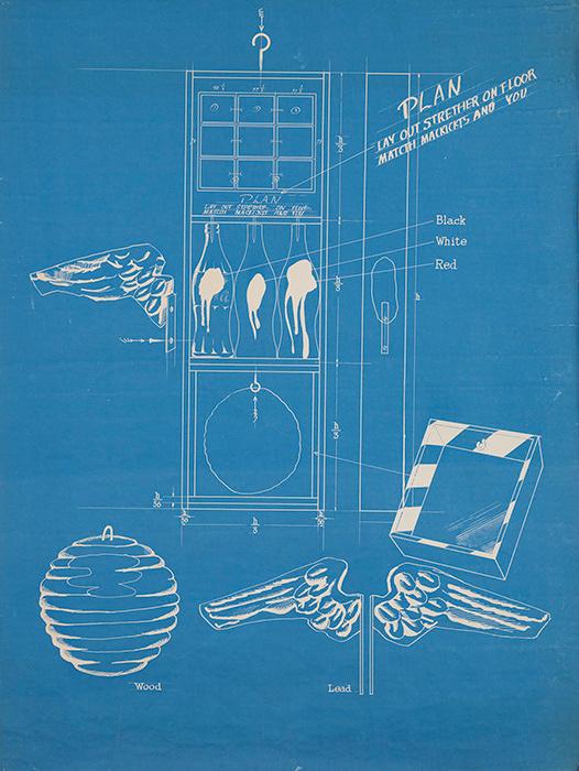篠原有司男『Coca-Cola Plan』 1966年 個人蔵