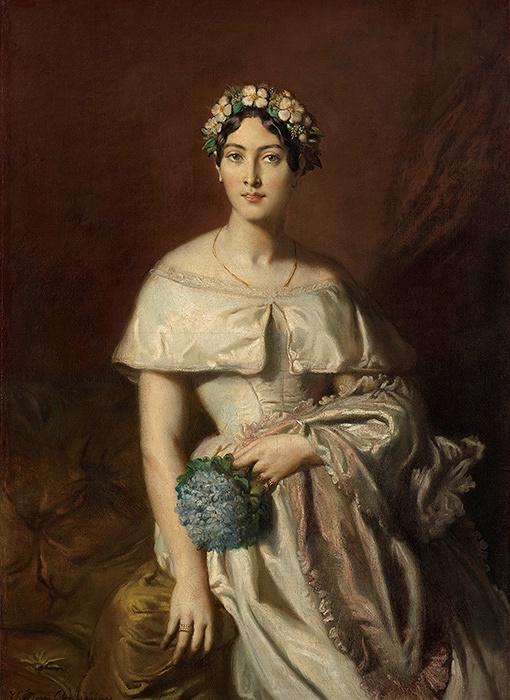 テオドール・シャセリオー『カバリュス嬢の肖像』1848年 カンペール美術館 Collection du musée des beaux-arts de Quimper