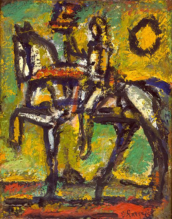 ジョルジュ・ルオー『聖ジャンヌ・ダルク「古い町外れ」』1951年 個人蔵(ジョルジュ・ルオー財団協力)、パリ