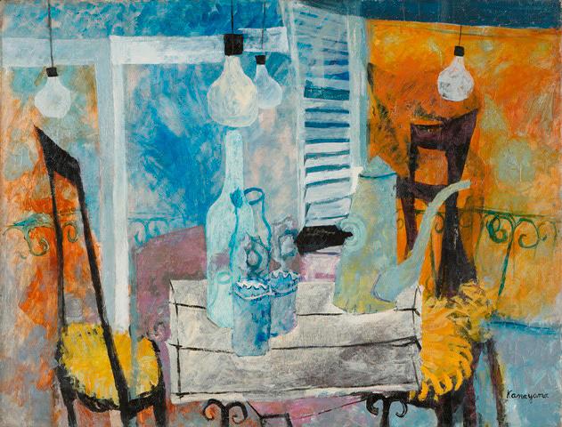 金山康喜『静物(コーヒーポットのある静物)』1954年 神奈川県立近代美術蔵