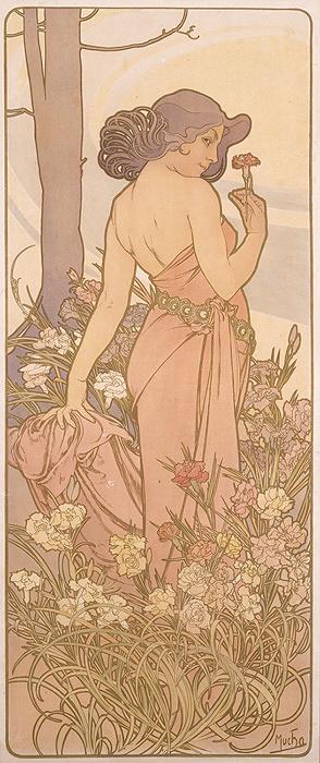 アルフォンス・ミュシャ『四つの花「カーネーション」』1897年 堺市