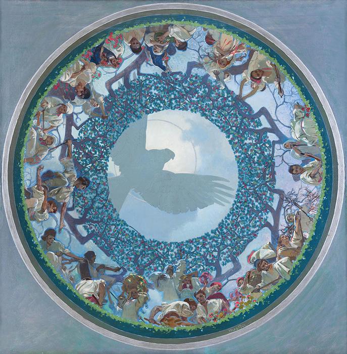 アルフォンス・ミュシャ『スラヴの連帯』1910-11年 プラハ市立美術館 ©Prague City Gallery