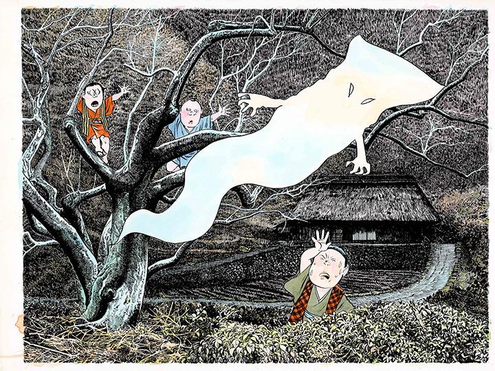 水木しげる『一反木綿』1991年 ©水木プロダクション