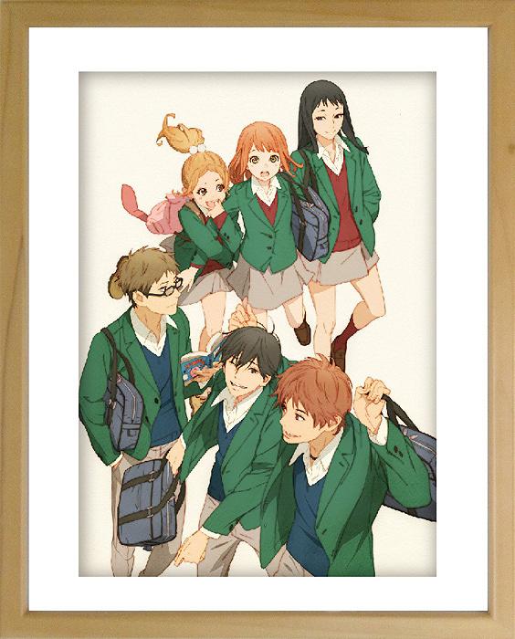 アニメキャラクターデザイン結城信輝による複製原画イメージ例 『TVアニメ「orange」展~未来のわたしからの手紙~』より