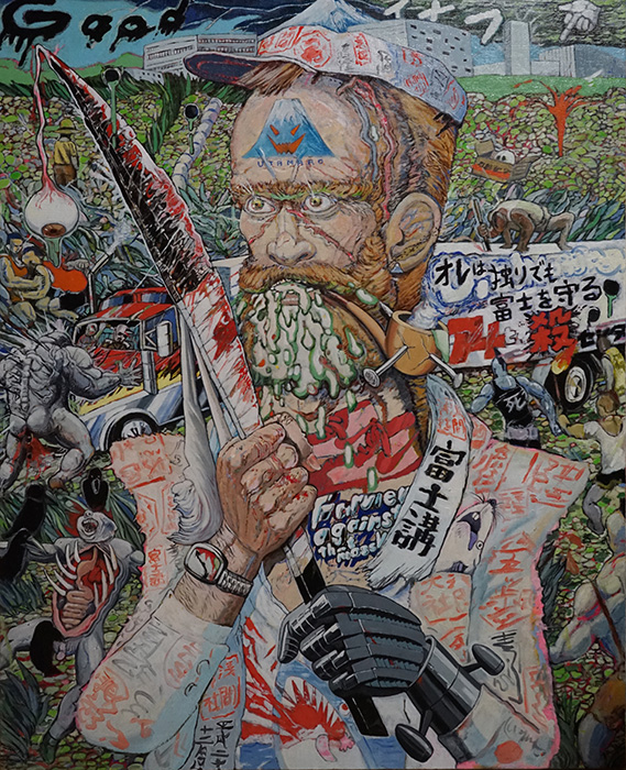 榎本耕一『富士山麓の戦士』oil on canvas, courtesy of TARO NASU