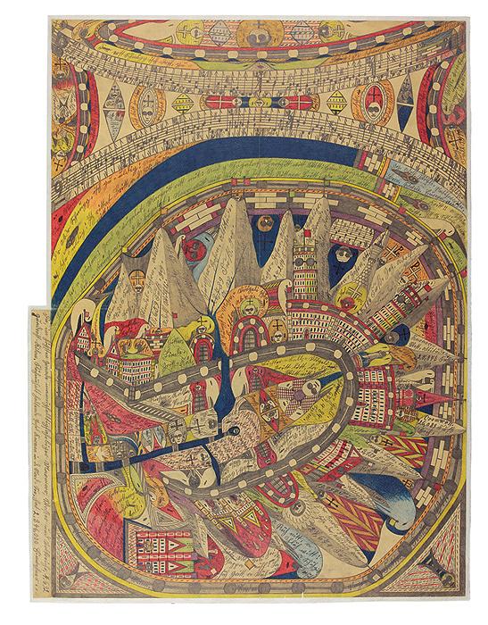 『黒人の広間』1911年 ベルン美術館 アドルフ・ヴェルフリ財団蔵  ©Adolf Wölfli Foundation, Museum of Fine Arts Bern