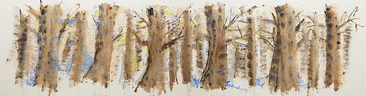 大宮エリー『十和田の冬』2016年 acrylic on canvas 190.0×800.0cm photo by Kenji Takahashi ©Ellie Omiya, Courtesy of Tomio Koyama Gallery / Koyama Art Projects