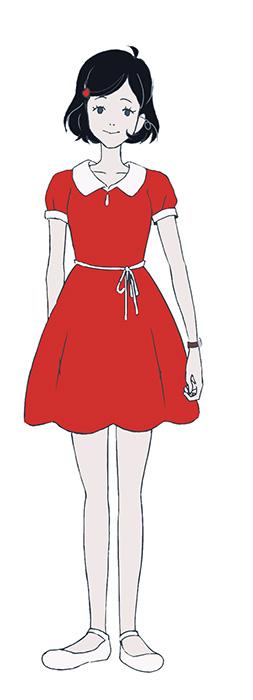 黒髪の乙女キャラクタービジュアル ©森見登美彦・KADOKAWA/ナカメの会