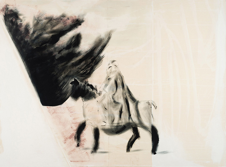 "Erik Swars""reiter"" 2016 oil on canvas 170×230cm ©Erik Swars Courtesy of KEN NAKAHASHI"