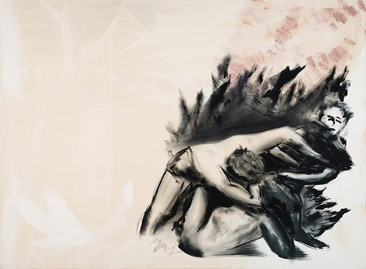 "Erik Swars""bewehrung"" 2016 oil and gouache on canvas 170×230cm ©Erik Swars Courtesy of KEN NAKAHASHI"