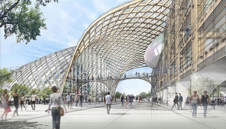 『スイス時計会社本社』 進行中 スイス・ビール 設計:坂茂建築設計、Shigeru Ban Architects Europe ©Didier Ghislain