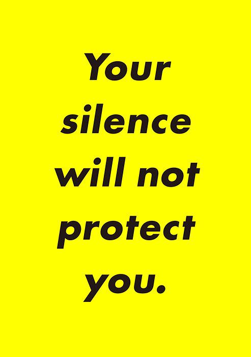 大澤悠大+カナイフユキ『Your silence will not protect you.』フライヤー表面ビジュアル