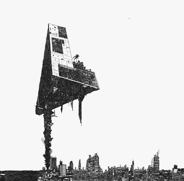坂口恭平『Dig-Ital City Prototype』2008年(参考図版) 協力:セゾンアートワークス