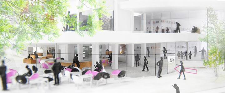 太田市美術館・図書館俯瞰イメージ 提供:平田晃久建築設計事務所