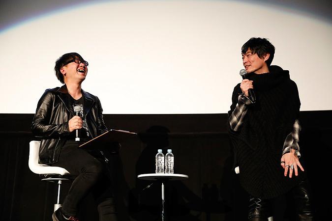 左から鹿野淳、中野雅之(BOOM BOOM SATELLITES) 2017年2月28日に東京・新宿バルト9で開催された『19972016 LIVE AND DOCUMENT』上映会内で行なわれたトークセッションより