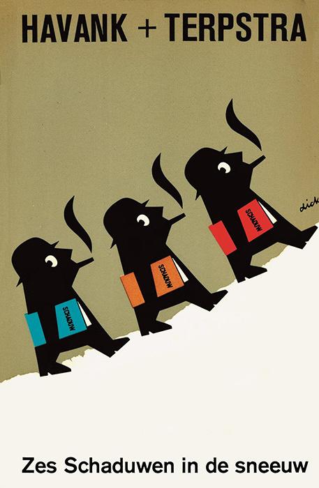 『雪の中の六人のシャドー』 ペーパーバック 1969年 ©Dick Bruna