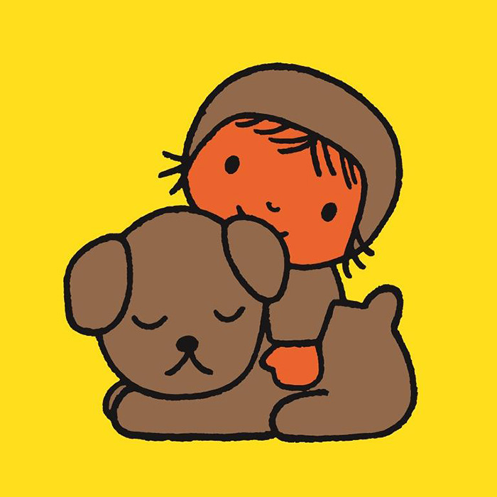 『こいぬのくんくん』より 絵本 1969年 Illustrations Dick Bruna ©copyright Mercis bv, 1953-2017 www.miffy.com
