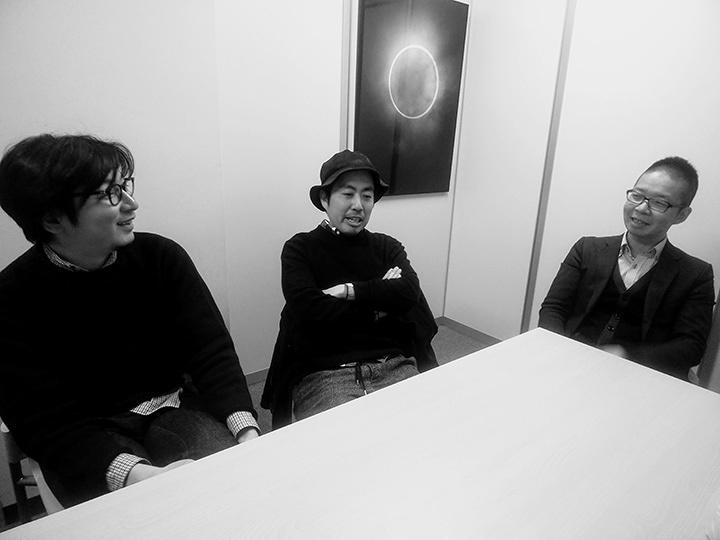左から大和田俊之、磯部涼、吉田雅史