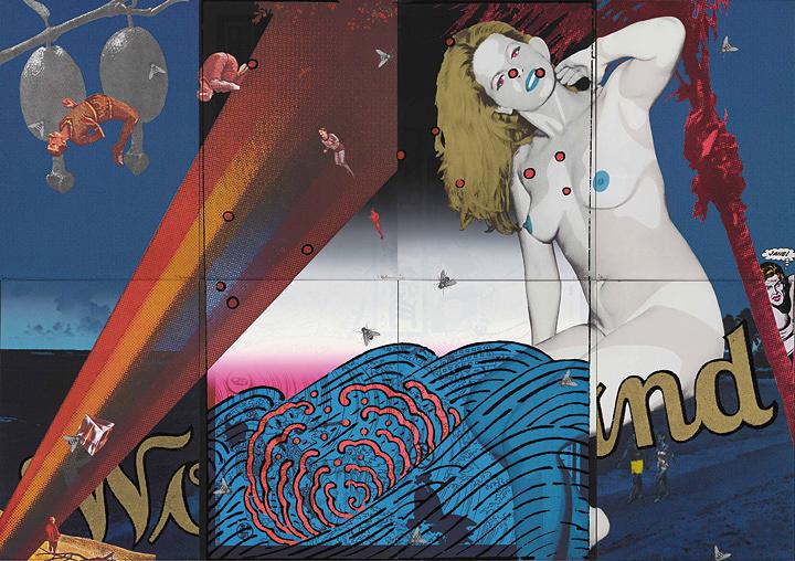 横尾忠則『Blue Wonderland』1973年 シルクスクリーン 241.8×292cm 町田市立国際版画美術館蔵