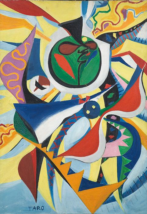 岡本太郎『日の壁』原画 1956年 岡本太郎記念館蔵