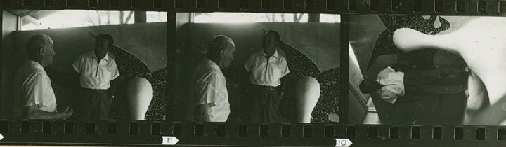 アントニン・レーモンドと岡本太郎 1962年 デップス邸