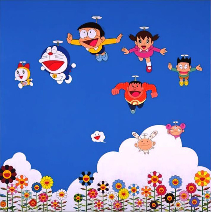 村上隆『ぼくと弟とドラえもんとの夏休み』2002年 『THE ドラえもん展』出展作品 ©2002 Takashi Murakami/Kaikai Kiki Co., Ltd. All Rights Reserved. ©Fujiko-Pro 2002