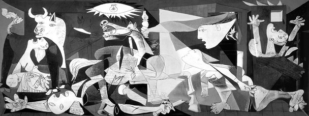 パブロ・ピカソ『ゲルニカ』1937年 スペイン・ソフィア王妃芸術センター所蔵 油彩 349cm×777cm