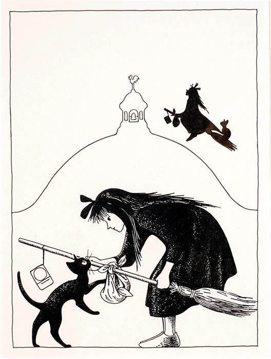 『魔女の宅急便』表紙原画 1985年1月 福音館書店 画:林明子